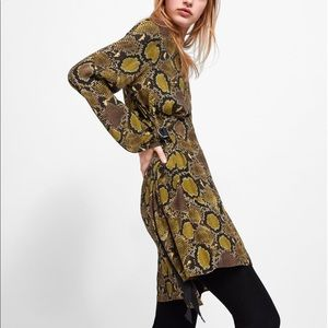 Zara Animal Print Dress S